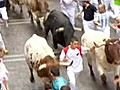 Bull Hit Runners Trampled in Spain | BahVideo.com