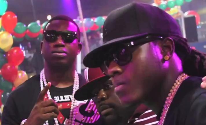 Ace Hood amp Gucci Mane Making It Rain At  | BahVideo.com