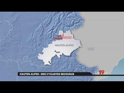 Neige des cyclistes pris au pi ge | BahVideo.com