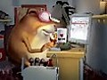 Mole Rat Working In Office  | BahVideo.com