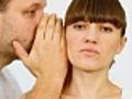 Man telling secret to surpirsed girl | BahVideo.com