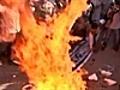 Iranians protest Koran burning threat | BahVideo.com