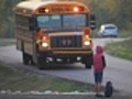 Little Girl waiting for School Bus | BahVideo.com