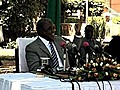 Monkey Pees On President Of Zambia | BahVideo.com