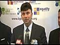 NY EQUALITY MARRIAGE CEREMONY PRESSER | BahVideo.com
