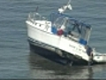 Boat runs aground in Boston Harbor | BahVideo.com