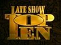 Late Show - Charlie Sheen Show Top Ten | BahVideo.com
