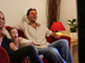 Family watching funny movie | BahVideo.com