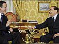 UK Cameron meets scandal-hit Berlusconi in Rome   BahVideo.com