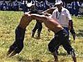Olive-Oil Wrestlers Get a Grip   BahVideo.com