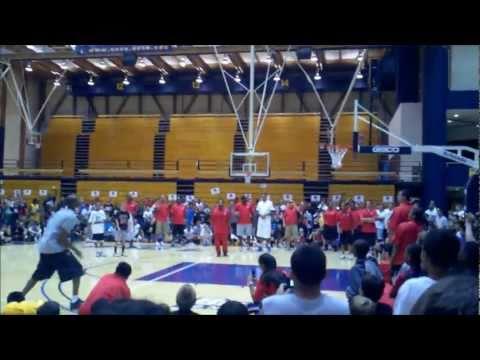 Kobe 360 dunk at 2011 Kobe Academy | BahVideo.com