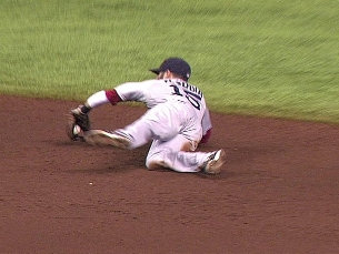 Pedroia flashes the leather | BahVideo.com