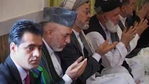 Karzai attends service for brother | BahVideo.com