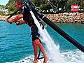 Jetpack Takes Man Airborne | BahVideo.com