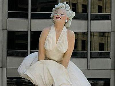 Raw Video Sculpture of Marilyn Monroe unveiled | BahVideo.com