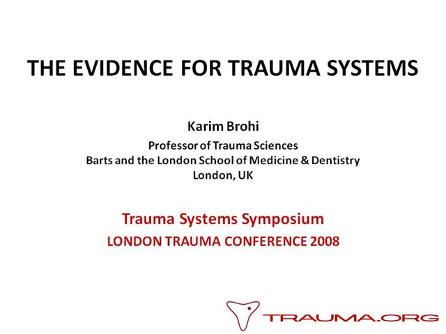 TRAUMA ORG - The Evidence for Regional Trauma  | BahVideo.com