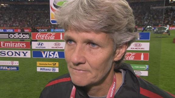 Pia Sundhage After Heartbreaking Loss   BahVideo.com