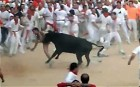 Naked man gored by bull in Pamplona | BahVideo.com