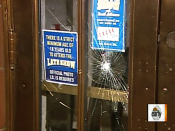 Letterman s studio doors smashed again | BahVideo.com