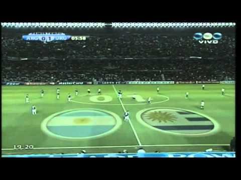 ARGENTINA vs URUGUAY COPA AMERICA 2011 Goles | BahVideo.com