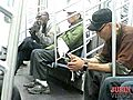 Man Licking Shoes on Subway 1136 | BahVideo.com