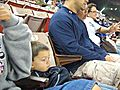 Brandon enjoying his visit to the stadium  | BahVideo.com