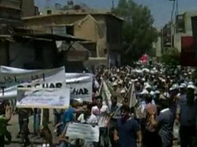 Raw Video Syrians stage largest protests yet | BahVideo.com