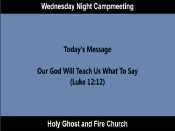 Wednesday Night Campmeeting | BahVideo.com