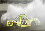 Matt Crafton celebrates Iowa CWTS victory | BahVideo.com