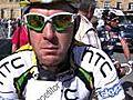 Matt Goss Before Stage 16 of the 2010 Vuelta a  | BahVideo.com