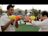 NME - Bombay Bicycle Club Benicassim Water Pistol Fight | BahVideo.com